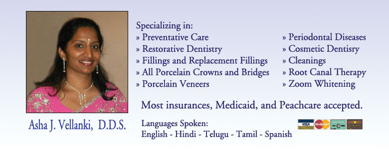 Click here to learn more about Dr. Asha J. Vellanki D.D.S.